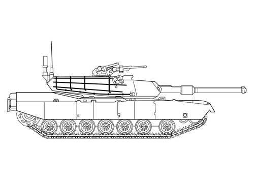 Kleurplaat Abrams Tank Doodle Coloring Pages Coloring Pages