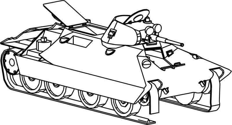Bt Sv Wot Tank Coloring Page Dengan Gambar