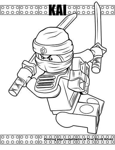 Coloring Page Ninja Kai With Images Varityskuva Varitys Legot