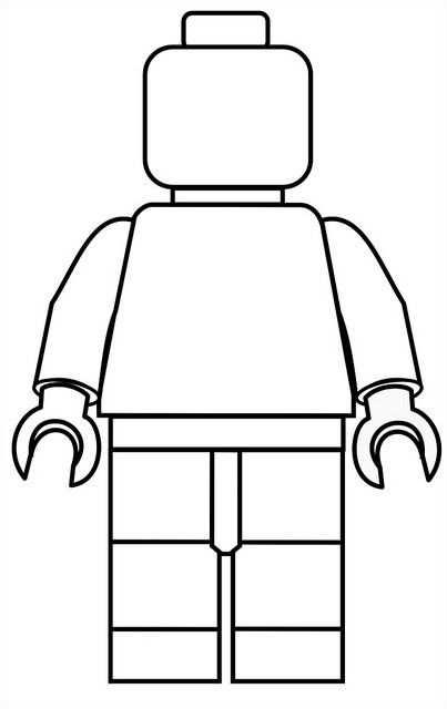 Lego Mini Fig Drawing Template Lego Kleurplaten Lego Poppetje