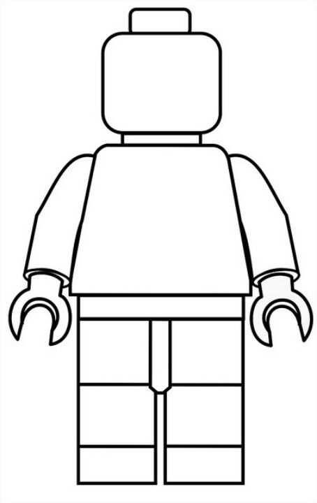 Blank Lego Body Lego Kleurplaten Lego Poppetje Jongens Knutselen