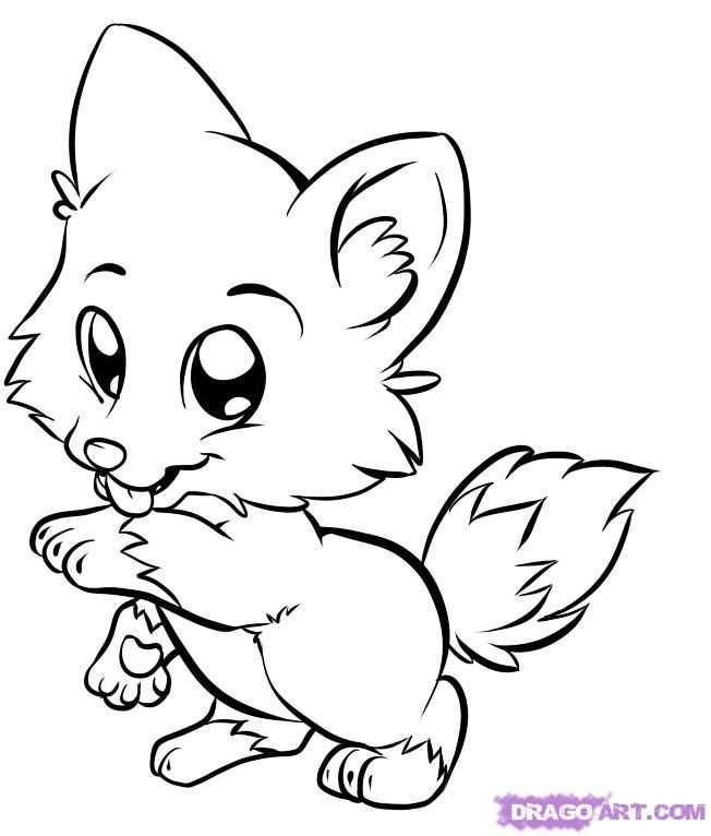 Cute Dolphin Coloring Pages Cute Anime Wolf Girl Description