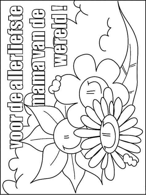 Voor De Allerliefste Mama Moederdag Kleurplaten Vaderdag
