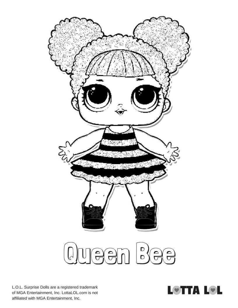 Queen Bee Coloring Page Lotta Lol Desenhos Para Criancas Colorir