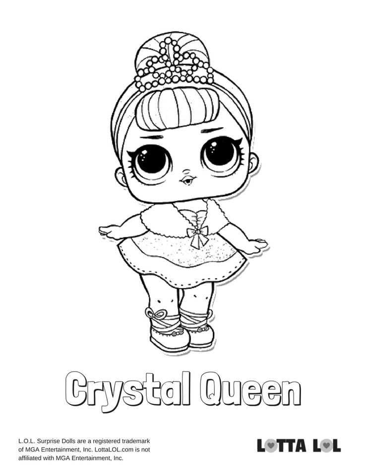 Crystal Queen Coloring Page Lotta Lol Coloring Pages Lol Dolls Lol