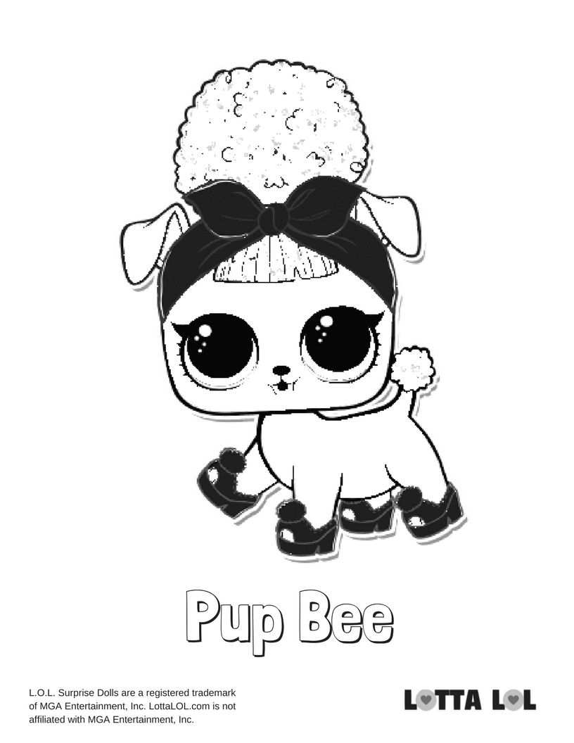 Pup Bee Coloring Page Lotta Lol Bee Coloring Pages Coloring