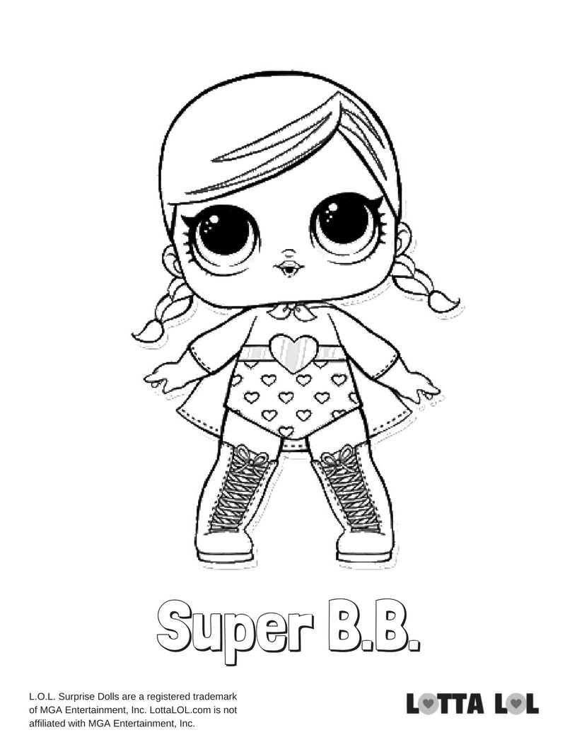 Super Bb Coloring Page Lotta Lol Desene