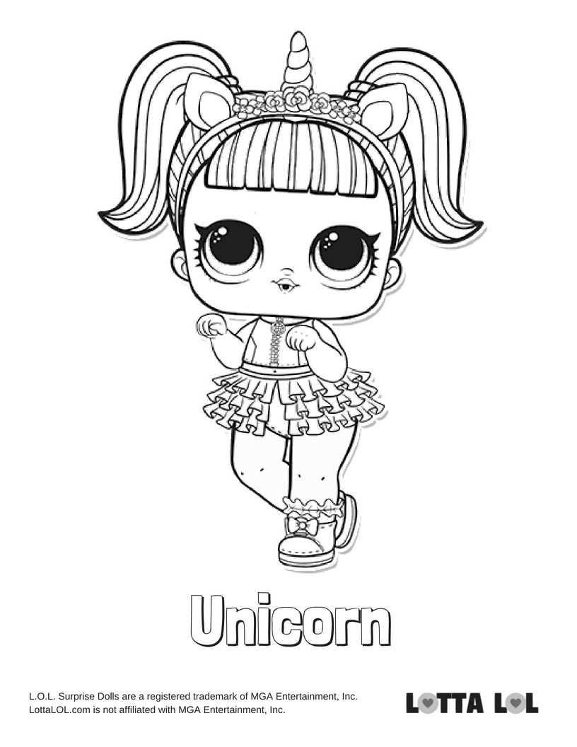 Unicorn Coloring Page Lotta Lol Desenhos Para Criancas Colorir