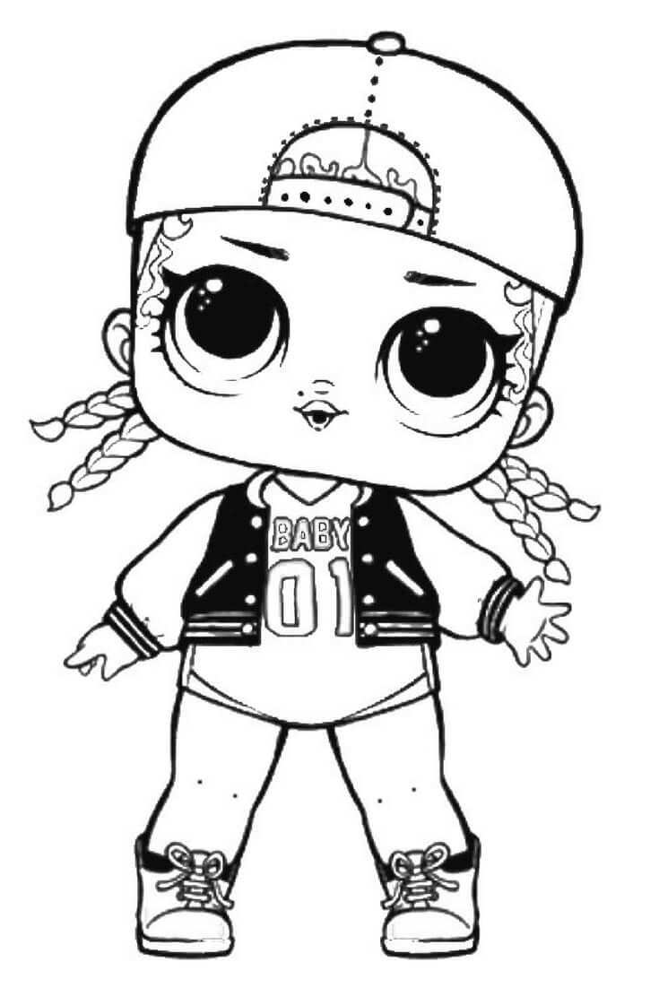Lol Surprise Doll Coloring Pages Leading Baby Kleurplaten