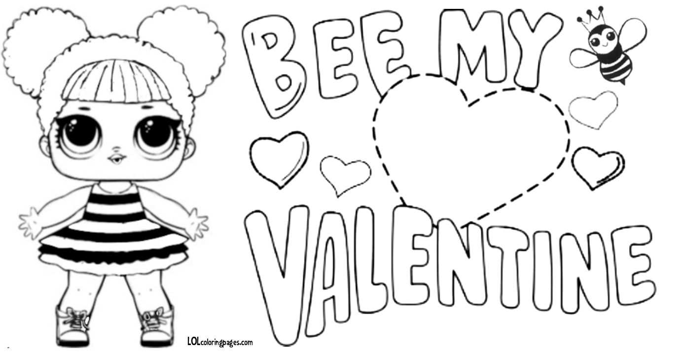 Queen Bee Lol Doll Valentine Coloring Page Com Imagens