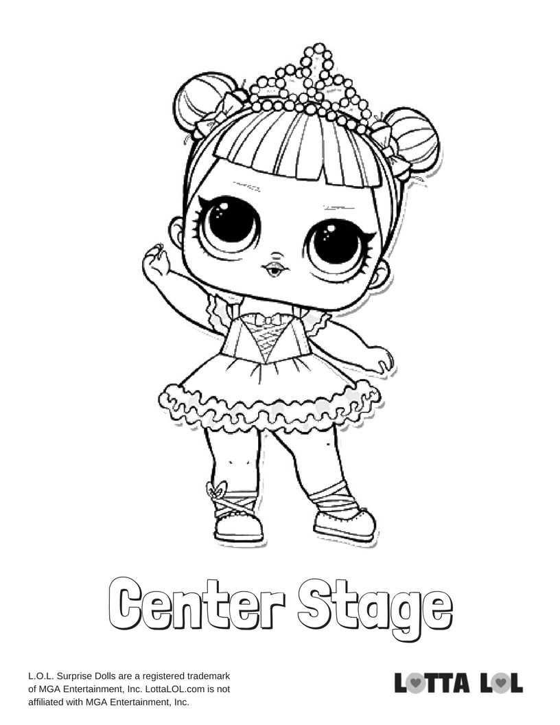 Center Stage Coloring Page Lotta Lol Kleurplaten