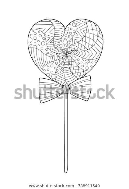 Valentines Day Doodle Coloring Book Page Stock Vector Royalty