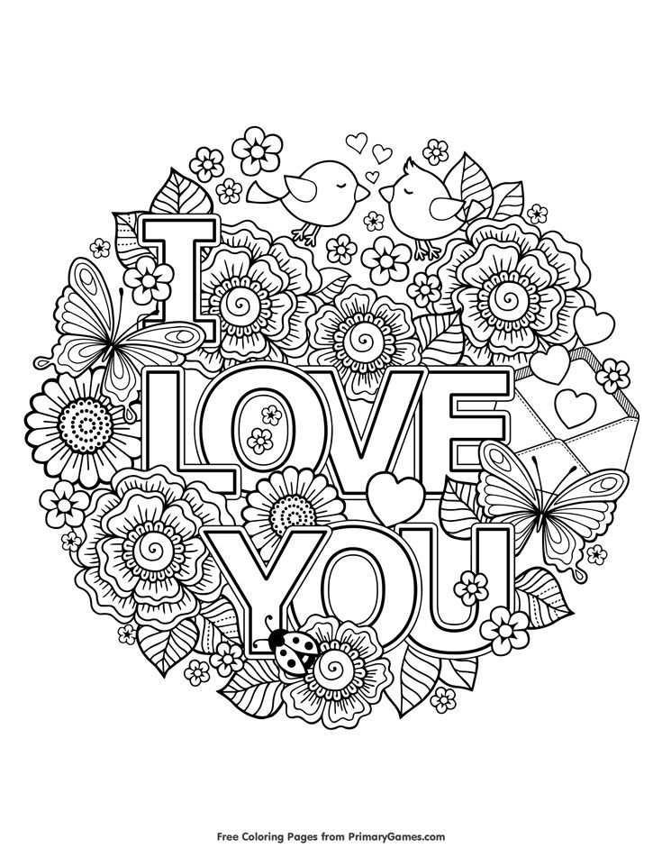 I Love You Coloring Page Free Printable Ebook Kleurplaten