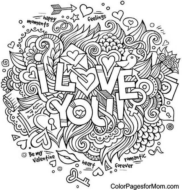 Doodle Love You Colouring Mandalas Para Colorear Libros Para