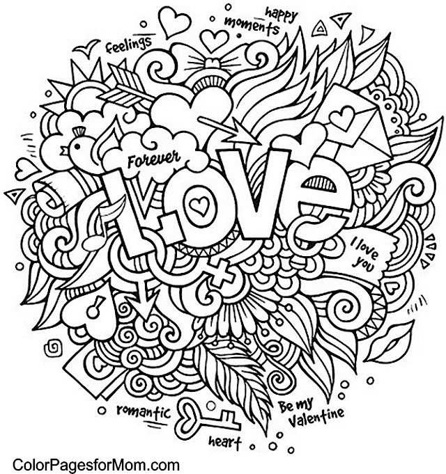 Doodle Love Colouring With Images Love Coloring Pages Quote