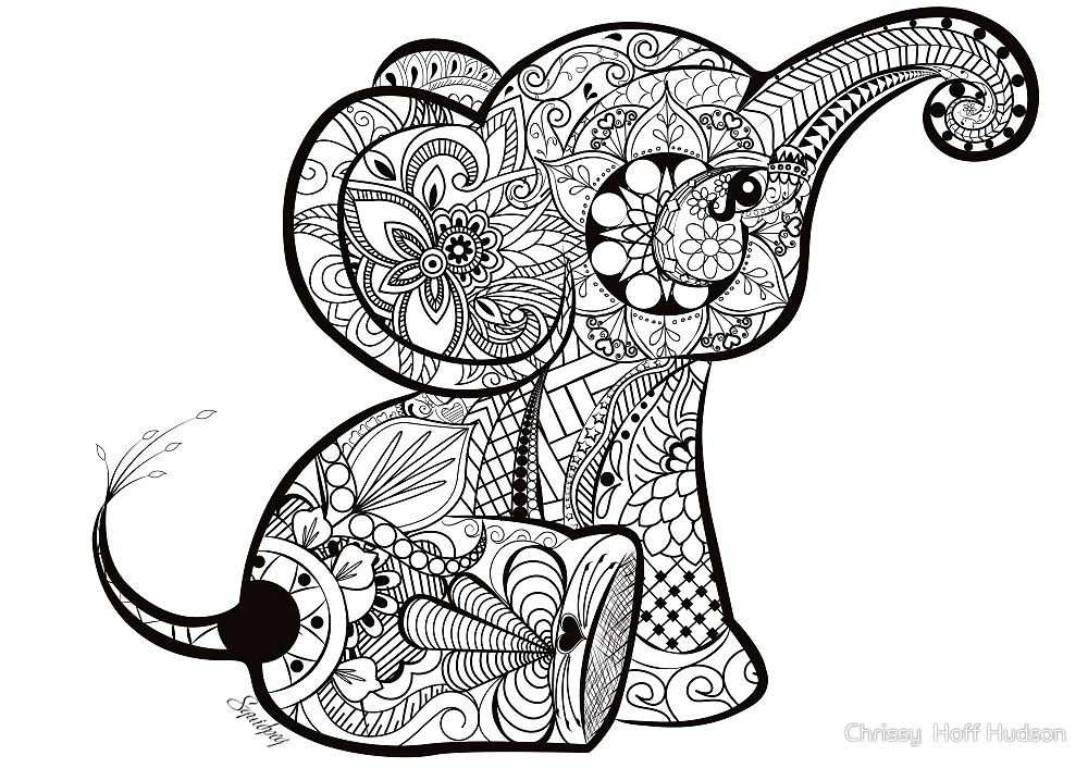 A Better Pic Of The Baby Elephant Doodle Coloriage Elephant