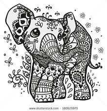Mandala Coloring Pages Olifant Tekening