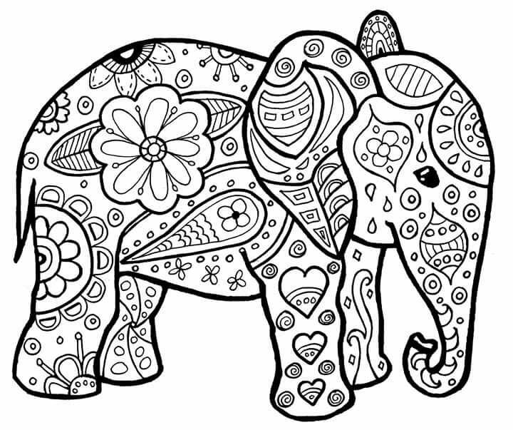 Elephant With Images Elephant Coloring Page Coloring Pages