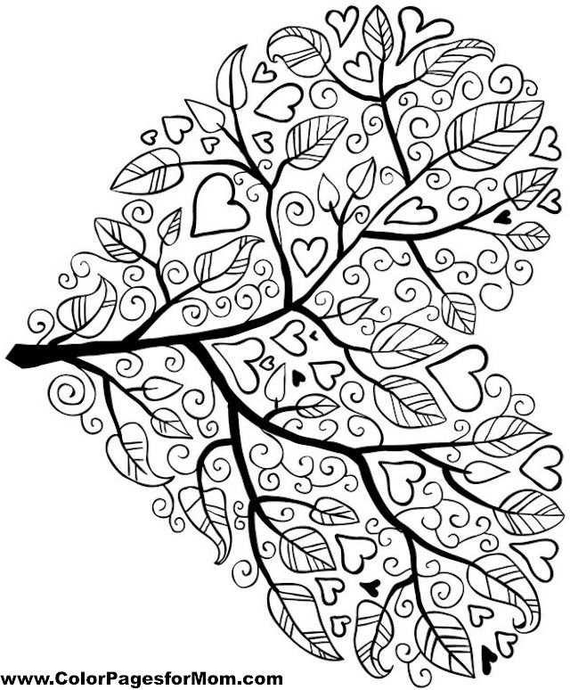 Tree Coloring Page 5 Libro De Colores Mandalas Para Colorear