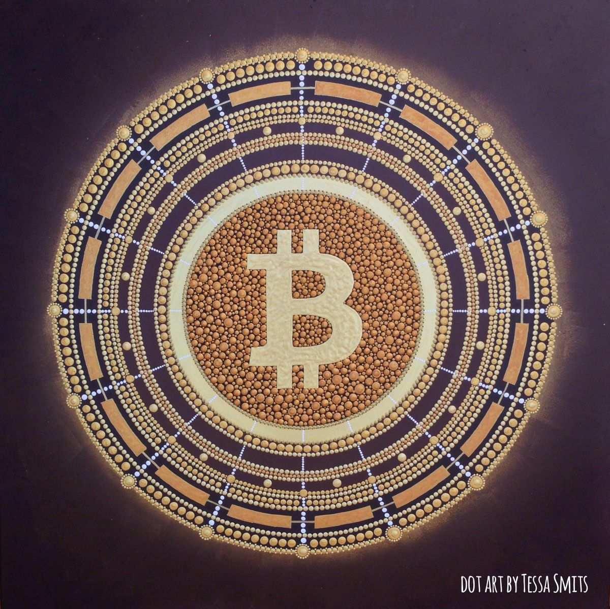 Bitcoin Money Flow Nr 1 The Dot Kunstwerk En Abstract