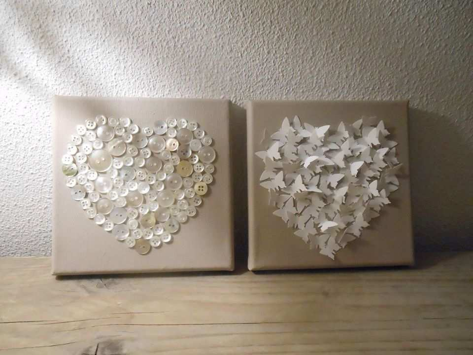 Leuk Idee Voor Canvas Knopen Of Vlinderstansjes In De Vorm Van