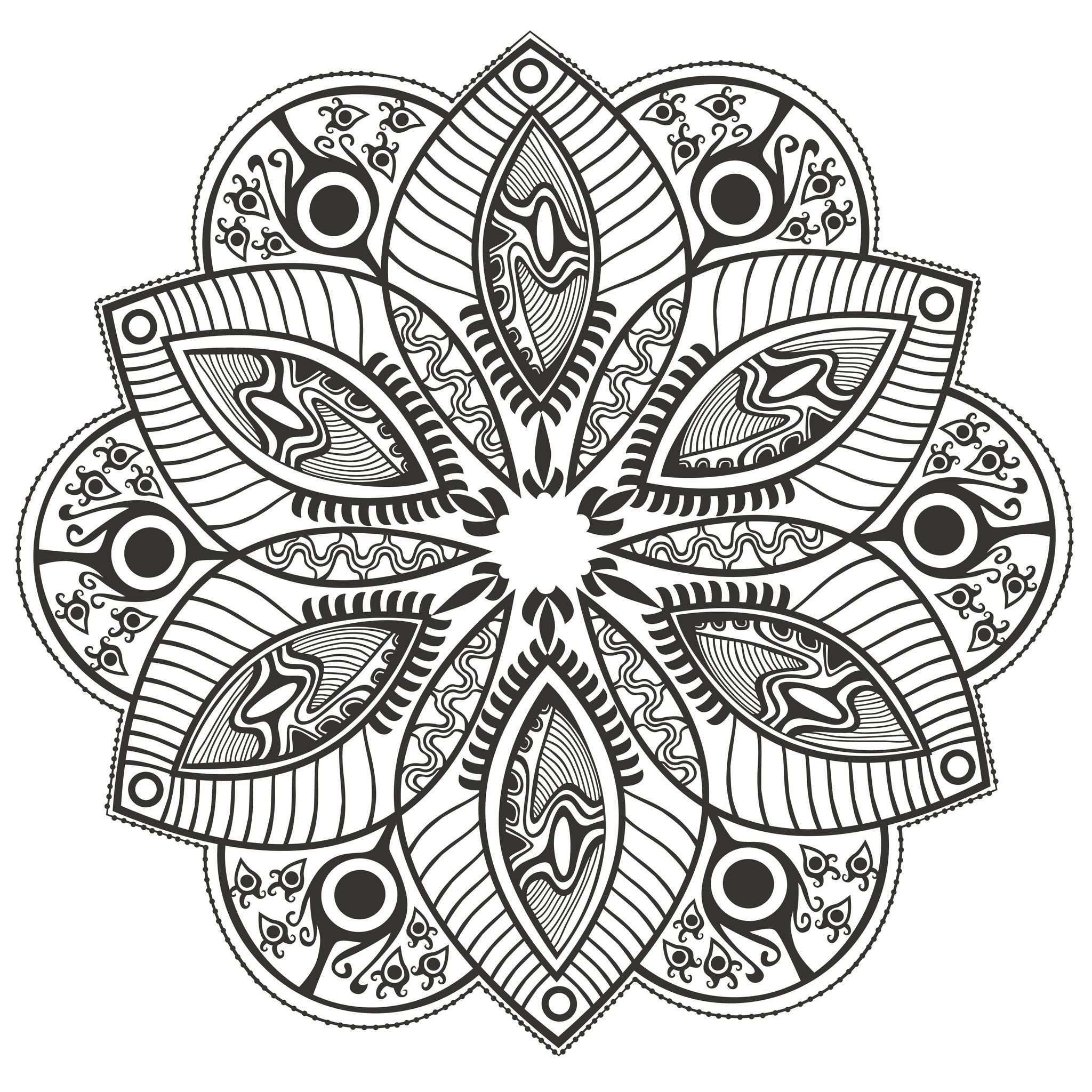 Mandala Original Flower Mandalas Coloring Pages For Adults
