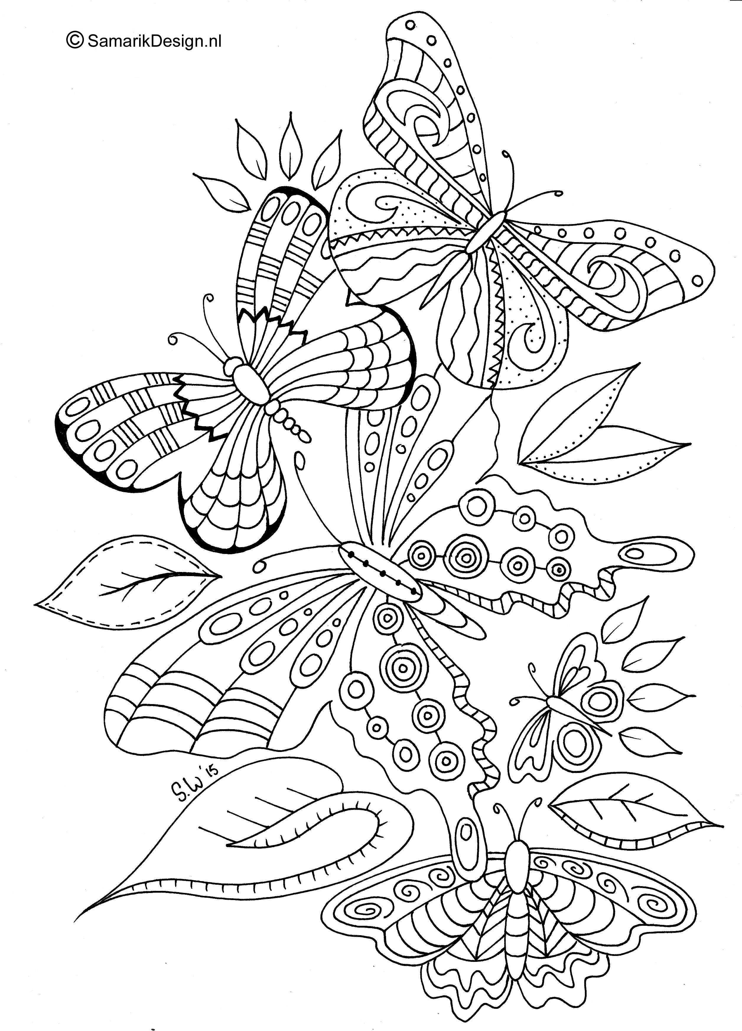 mandala kleurplaat volwassenen vlinder