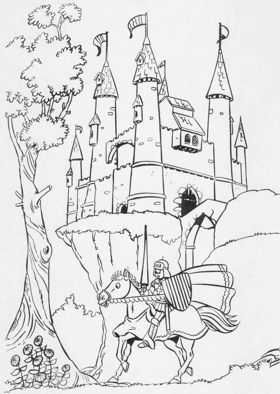 Middeleeuwen Kleurplaat Ridders En Kastelen