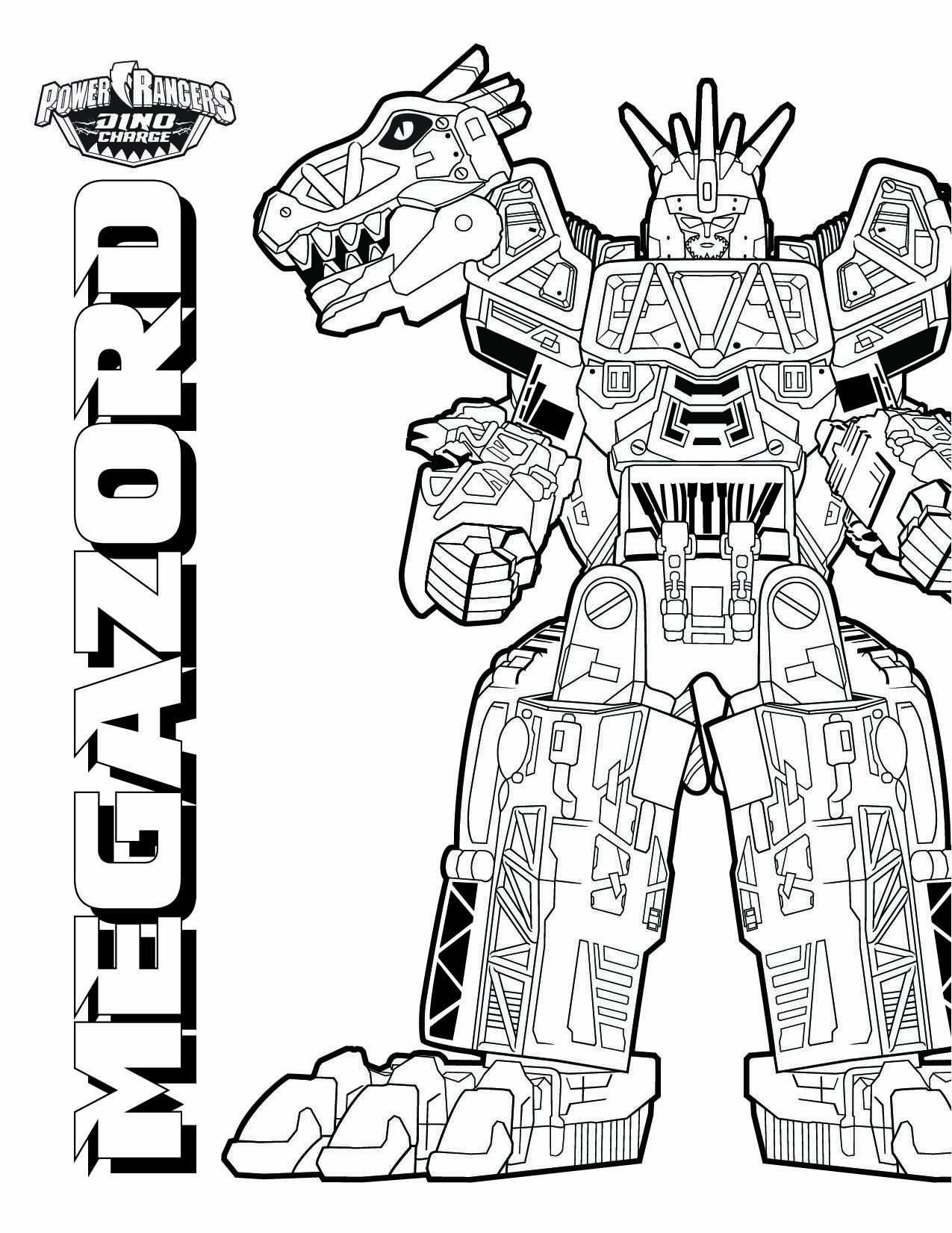 Megazord Power Rangers Coloring Pages Train Coloring Pages