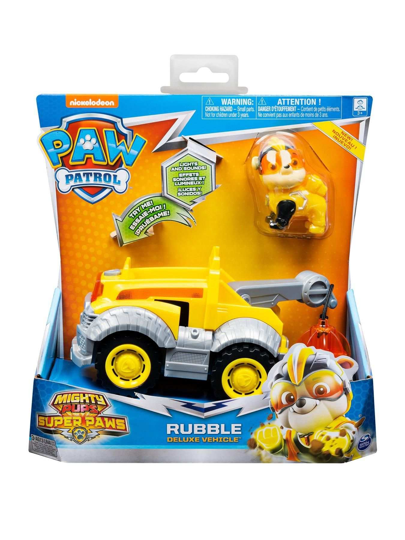 Paw Patrol Mighty Pups Super Paws Deluxe Vehicle Marshall Paw