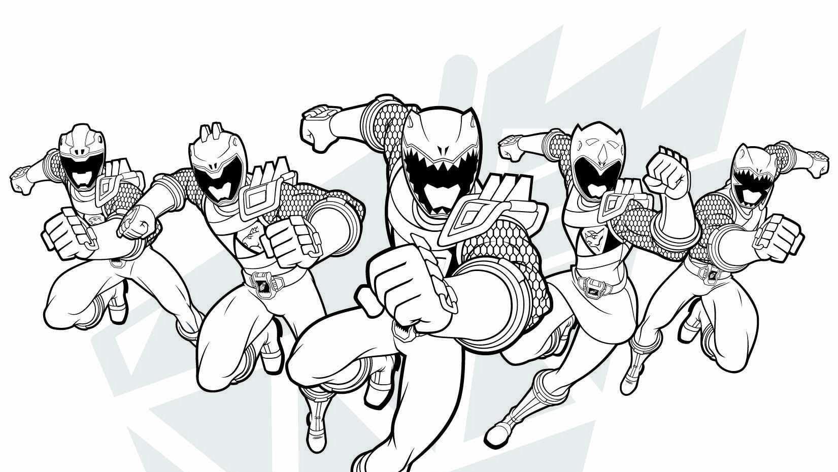 Power Rangers Dino Charge Breakout 6 12 Desenhos Pra Colorir