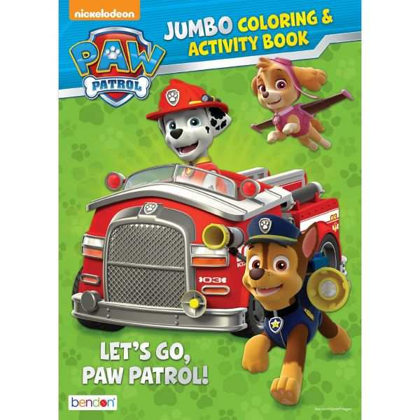 Paw Patrol Coloring Activity Book Paw Patrol Coloring Paw