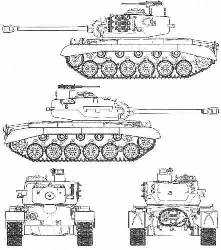 Blue Prints Of M 26 Pershing Tank Met Afbeeldingen Militaire