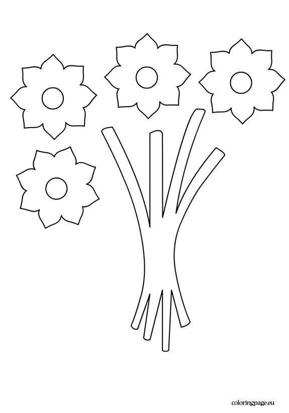 Bouquet Flowers Template Kleurplaten Patronen En Bloemen Maken