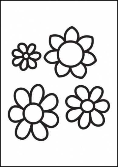 Bloemen Met Afbeeldingen Kleurplaten Bloem Kleurplaten
