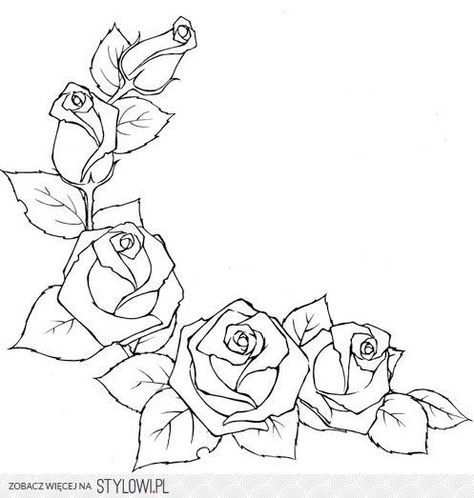 Szablon Roze Na Stylowi Pl Drawings Coloring Pages Pattern