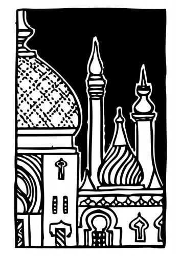 Moskee Ramadan Knutselen Kleurplaten Artiesten