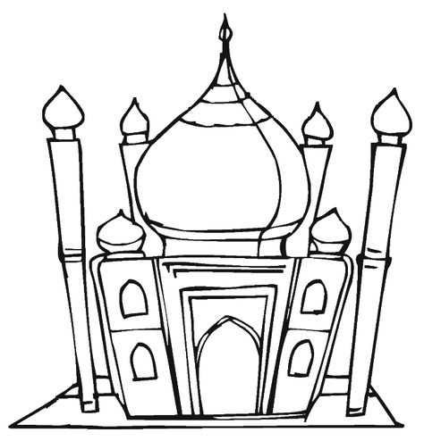 Moskee Ramadan Knutselen Kleurplaten Islam