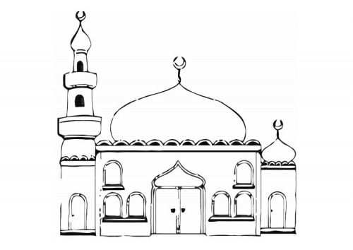 Kleurplaat Kleurplaten Moskee Islam