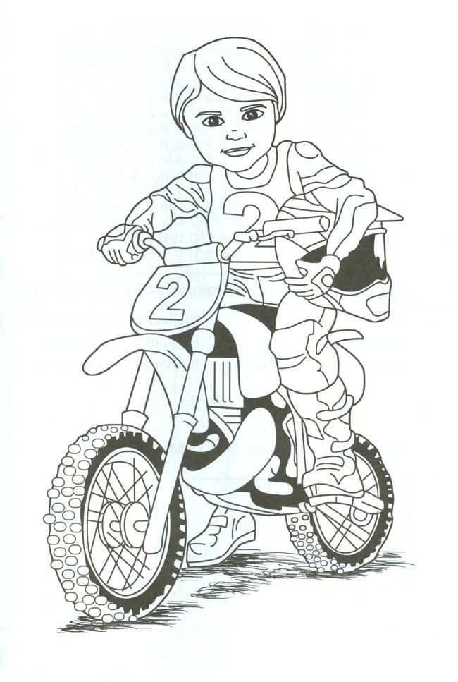 Dirt Bike Rider Coloring Page Tina We Cn Print This And Fayth