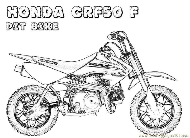 Free Printable Coloring Page Honda Bike Transport Bikes