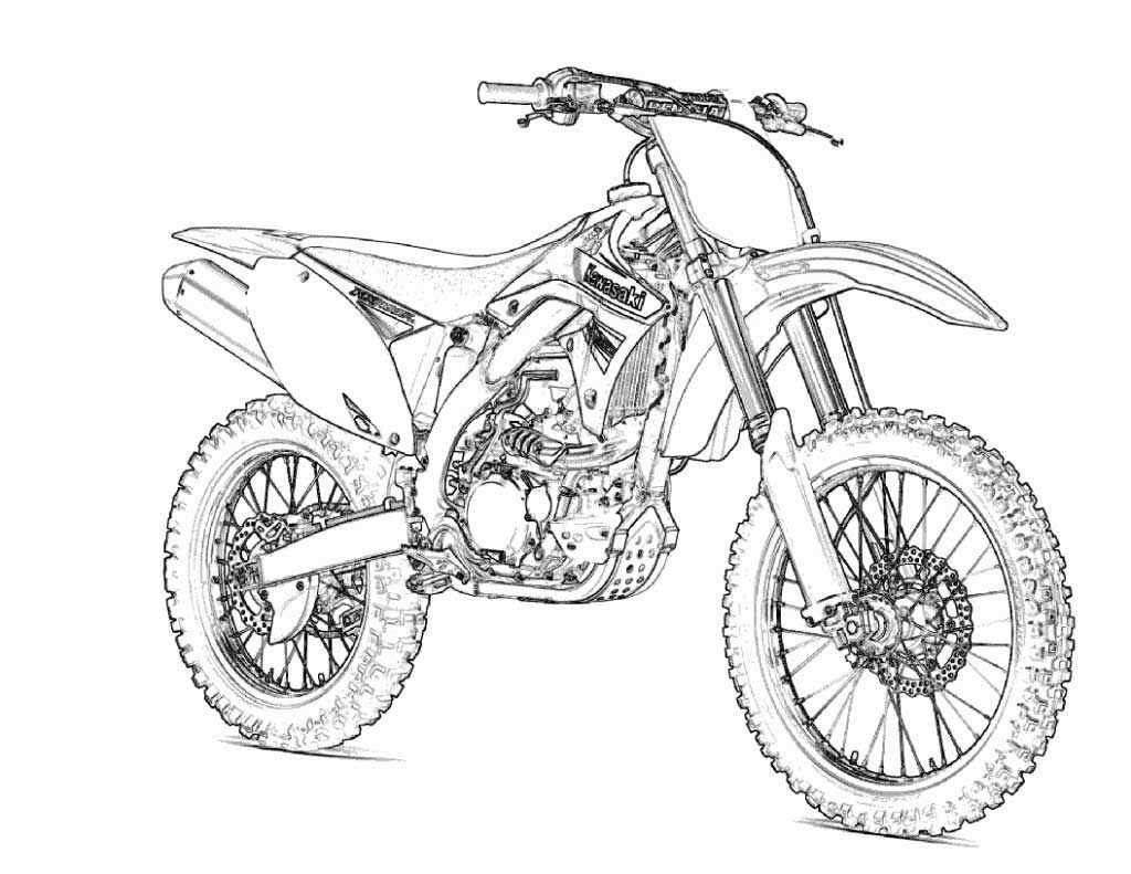 motorcross crossmotor kleurplaat