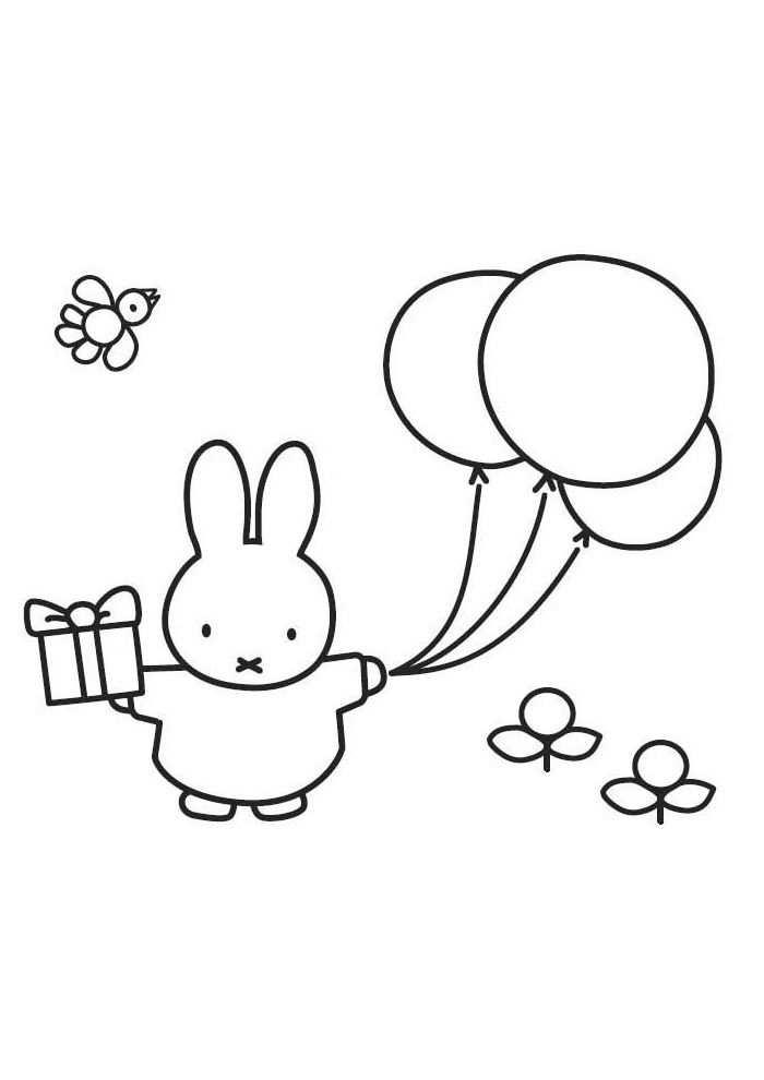 Nijntje Mooi Die Ballon Kleurplaten Kleurplaten Voor Kinderen