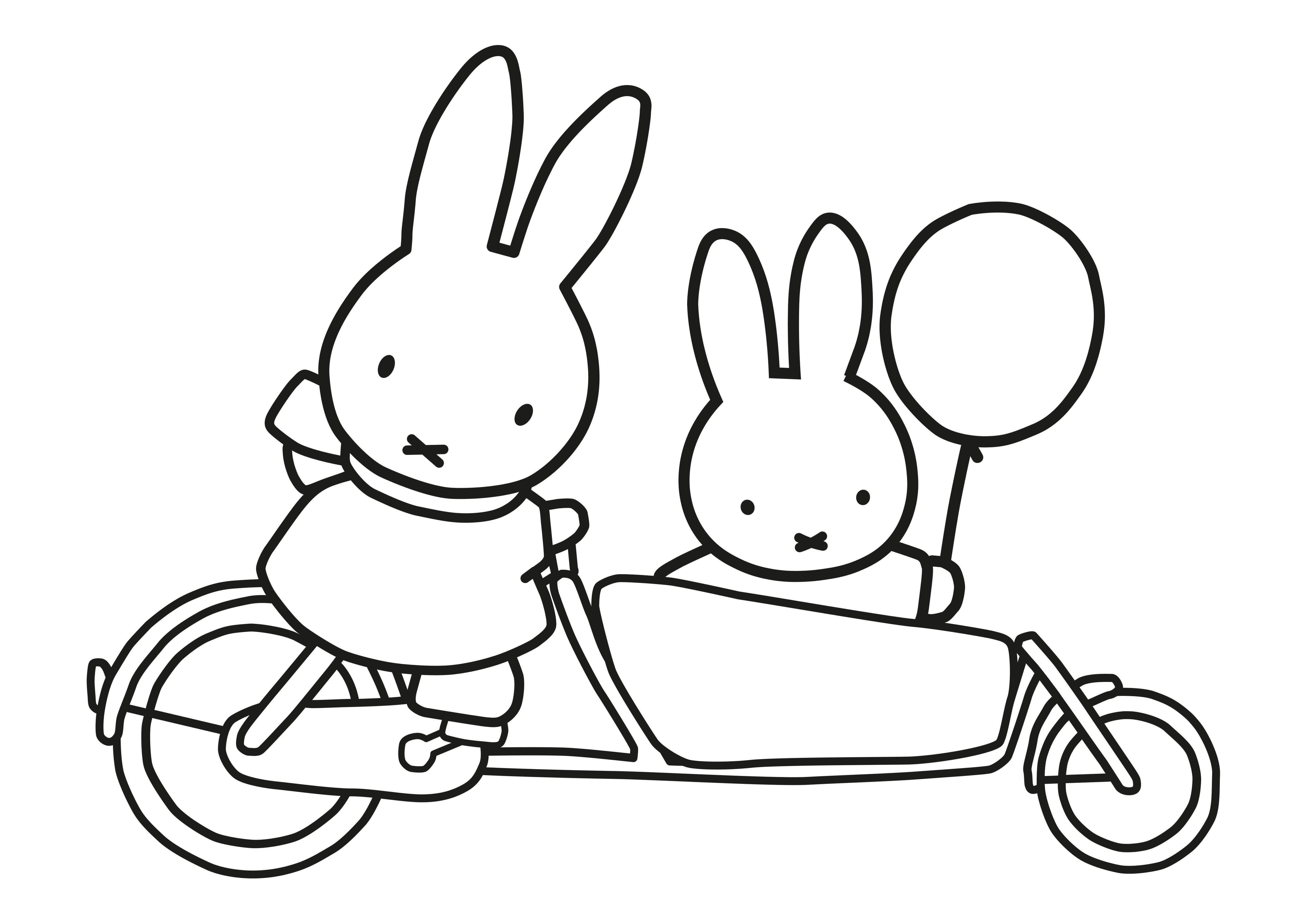 Ausmalbild Lastenfahrrad Ausmalbild Fahrrad Ausmalbild Miffy