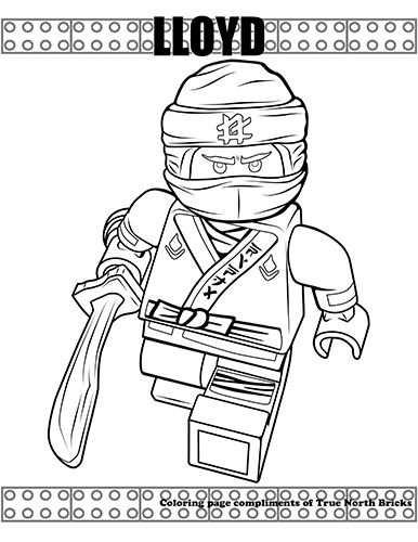 Coloring Page Ninja Lloyd Szinezo Gyerek