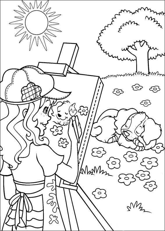 Kleurplaten Holly Hobbie 7 Tegninger Maleboger Tegning Til Born