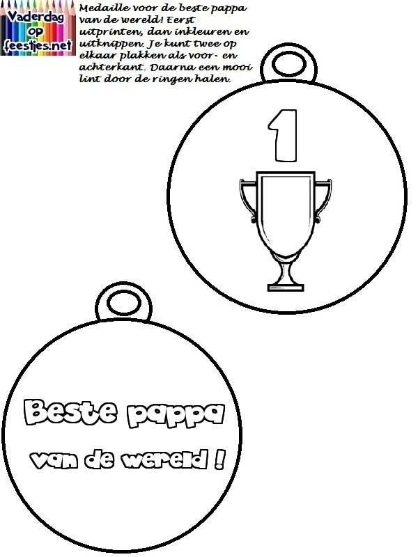 Medaille Voor Vaderdag Met Afbeeldingen Vaderdag Vaderdag