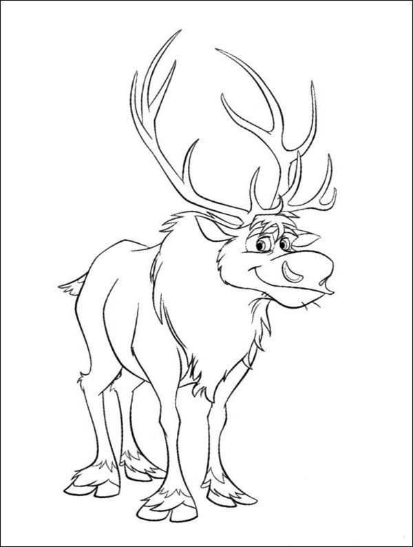 Frozen Animal Coloring Pages For Kids To Print Frozen Coloring