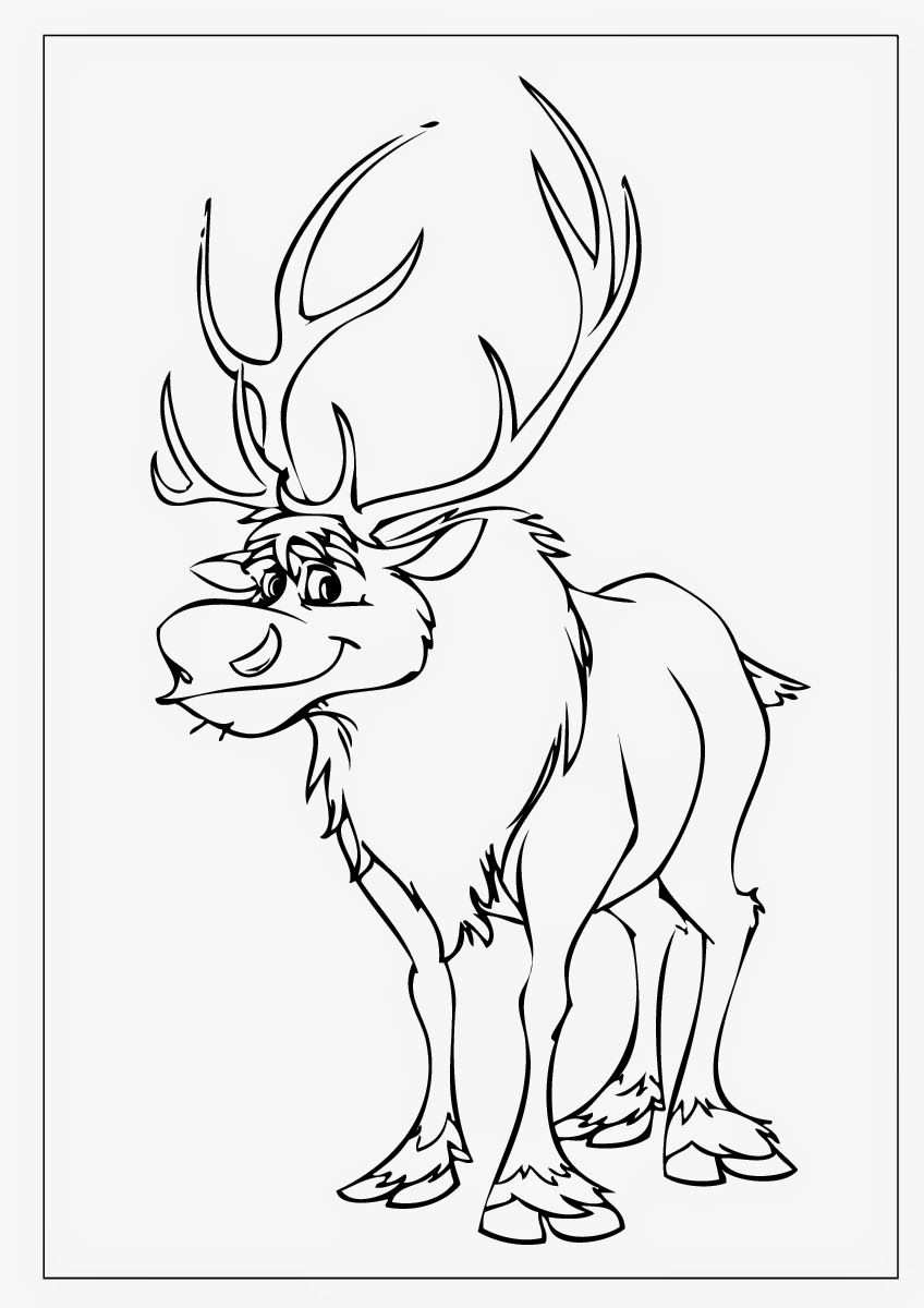 Disney Movie Coloring Pages Frozen Coloring Pages Sven Coloring