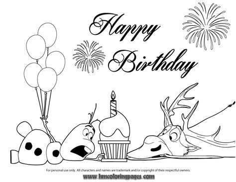 Olaf And Sven Fight For Cupcake Coloring Page Gif 867 670 Met